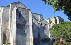 Montmajour古老修道院  免版税图库摄影