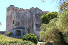 Montmajour abbotskloster i Provence, Frankrike arkivbilder