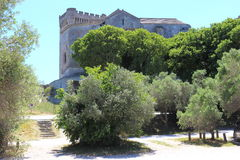 Montmajour-Abtei in der Provence in Frankreich Lizenzfreie Stockbilder