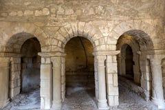 Montmajour-Abtei nahe Arles Provence Frankreich Stockbild