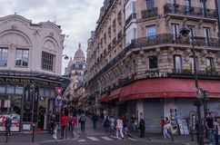 Montmartre在巴黎 免版税图库摄影