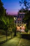 Montmartre小山在巴黎 库存照片
