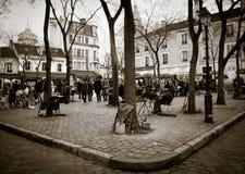 montmartre巴黎广场 免版税库存图片
