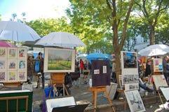 Montmartre艺术品 免版税库存照片