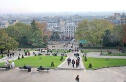 Montmartre άνωθεν Παρίσι Στοκ Φωτογραφία