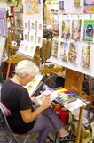 Montmartre και οι ζωγράφοι του Στοκ Εικόνες