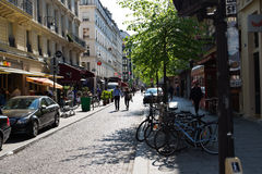 montmartre οδοί του Παρισιού Στοκ Εικόνα