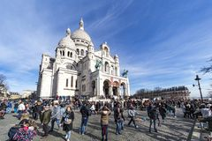 Montmartre, базилика Sacré-coeur стоковое фото rf