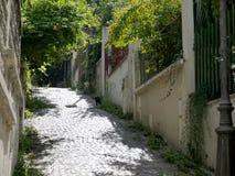 montmartre巴黎街道 免版税库存照片