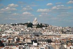 Montmartre. Basilica of Montmartre in Paris seen from centre Pompidou Stock Image