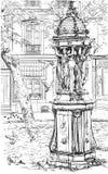 喷泉montmartre老巴黎 免版税图库摄影