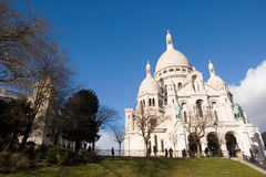 Montmartre. The church of sacred heart in montmartre Royalty Free Stock Photo