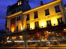 Montmartre alla notte a Parigi Fotografie Stock Libere da Diritti