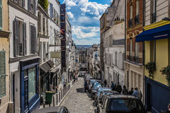 Montmartre area in Paris , France Stock Photography