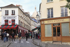 Montmartre area in Paris, France Stock Photo