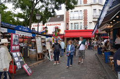 Montmartre artists, Paris Royalty Free Stock Photography