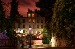 Montmartre bis zum Nacht, Paris, Frankreich Stockfoto