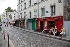 Montmartre Cafe, Paris Royalty Free Stock Images