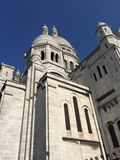 Montmartre cathedral close up stock images
