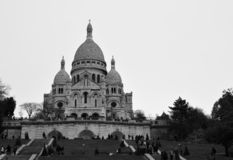 Montmartre Cathedral in Paris stock image