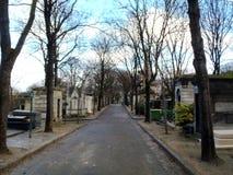 Montmartre cemetery tombstones Stock Photo