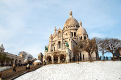 Montmartre church. Famous Montmartre church in Paris Stock Photos