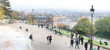 Montmartre da sopra parigi Fotografia Stock Libera da Diritti