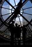 Montmartre dal museo di Orsay - Parigi Fotografia Stock