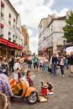 Montmartre day by day scene - Paris Stock Photos