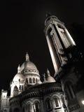 Montmartre di notte Parigi Fotografia Stock