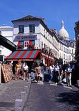 Montmartre district, Paris. Royalty Free Stock Photography