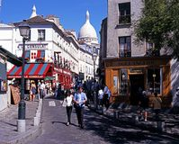 Montmartre district, Paris. Stock Photo