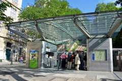 Montmartre elevator paris Royalty Free Stock Images