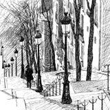 Montmartre en París stock de ilustración