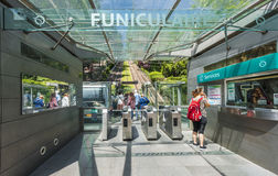 Montmartre Funicular. Take funicular to Montmartre! Paris, France Royalty Free Stock Image