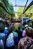 Montmartre funicular going to Sacre Coeur Royalty Free Stock Image