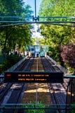 Montmartre funikuläres Gehen zu Sacre Coeur Stockfotografie