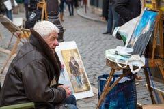 Montmartre gatakonstnärer Arkivfoton