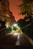 Montmartre hill in Paris at night Stock Photography