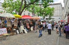 Montmartre i Paris. Arkivfoto