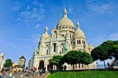 Montmartre i Paris Arkivbild