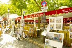 Montmartre and its painters Stock Photography