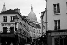 Montmartre-Kirchen-Haube - Frankreich stockbild