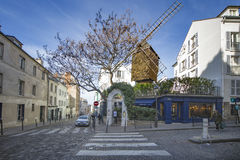 Montmartre, la galette windmill restaurant Stock Images