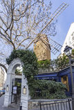 Montmartre, la galette windmill restaurant Royalty Free Stock Photography