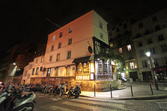 Montmartre by night. Paris Royalty Free Stock Images