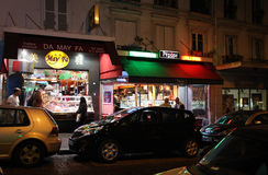 Montmartre by night. Paris Stock Photos