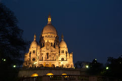 Montmartre by night Stock Photography