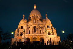 Montmartre by night Royalty Free Stock Images