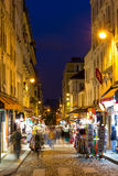 Montmartre by night - shopping street near Sacre Coeur Royalty Free Stock Image